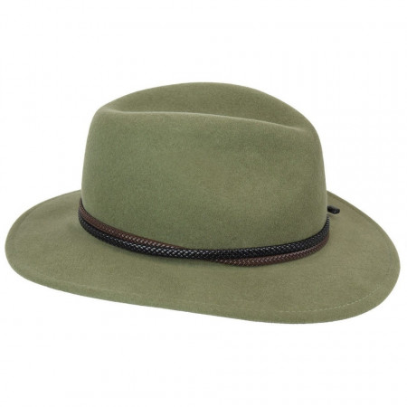 Palarie Bailey of Hollywood Nelles LiteFelt Fedora Verde 2