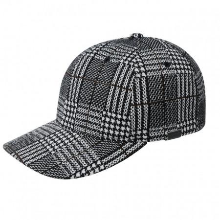 Sapca Kangol Pattern Flexfit Baseball Black Plaid