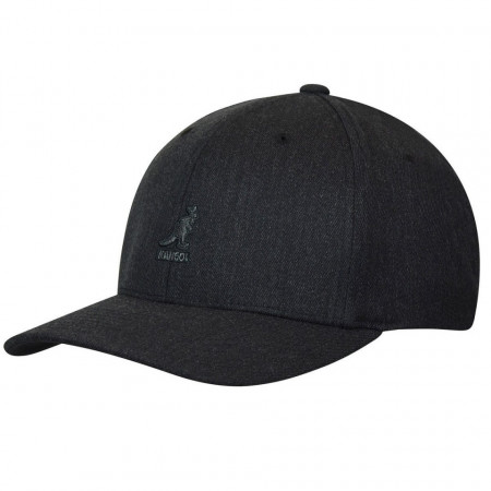 Sapca Kangol Wool Flexfit Baseball Dark Heather Grey