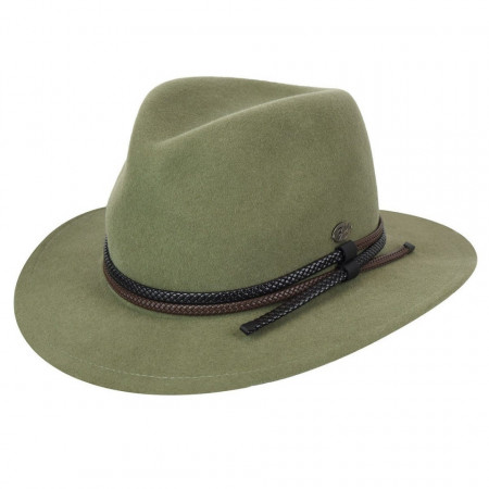 Palarie Bailey of Hollywood Nelles LiteFelt Fedora Verde 3