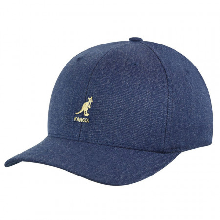 Sapca Kangol Wool Flexfit Baseball Denim