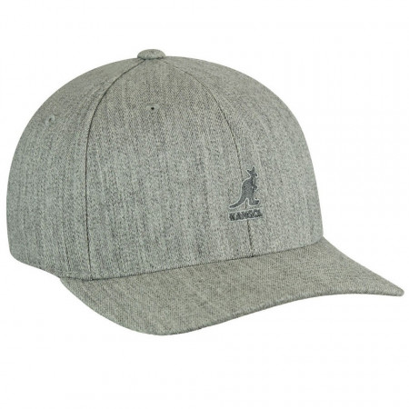 Sapca Kangol Wool Flexfit Baseball Gri 2