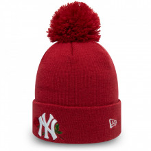 Caciula New Era Bobble Knit Twine NY Yankees Rosu