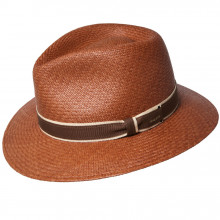 Palarie Bailey of Hollywood Brooks Panama Fedora Clay