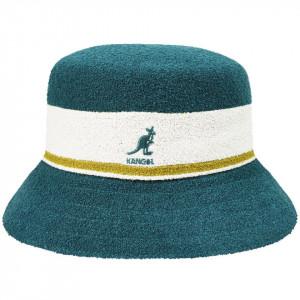 Palarie Kangol Bermuda Stripe Bucket Verde