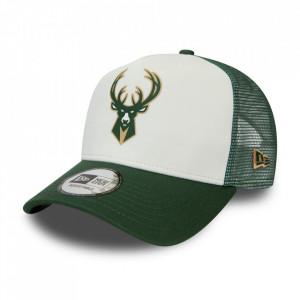 Sapca New Era A-Frame Trucker Block Milwaukee Bucks