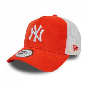 Sapca New Era Cord A-Frame Trucker New York Yankees Coral