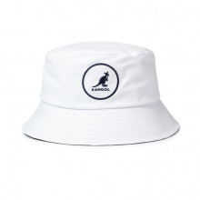 Palarie alba Kangol Cotton Bucket