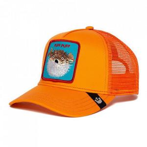 Sapca Goorin Brothers Trucker Puff Neon Orange