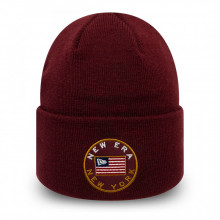 Caciula New Era Flagged Stone Cuff Knit Rosu Bordo