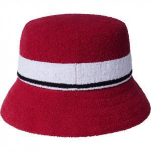 Palarie Kangol Bermuda Stripe Bucket Rosu 2