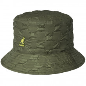 Palarie Kangol Pucker Check Bucket Verde Oliv