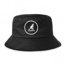 Palarie neagra Kangol Cotton Bucket
