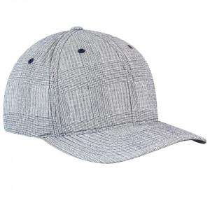 Sapca Kango Pattern Flexfit Baseball Check Navy 3