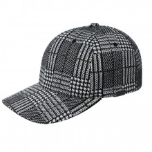 Sapca Kangol Pattern Flexfit Baseball Black Plaid