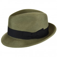 Palarie Bailey of Hollywood Riff Fedora Verde Oliv