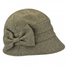 Palarie Betmar Pippa Asymmetrical Cloche Maro Taupe