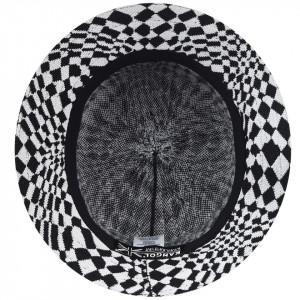 Palarie Kangol Warped Check Bucket Negru 5