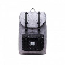 Rucksack Herschel Little America Mid Volume - Polka Dot Crosshatch Grau
