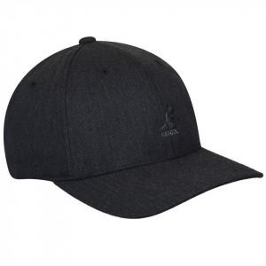 Sapca Kangol Wool Flexfit Baseball Dark Heather Grey 1