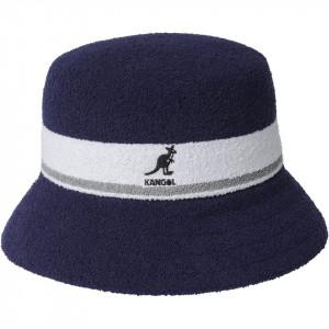 Palarie Kangol Bermuda Stripe Bucket Bleumarin