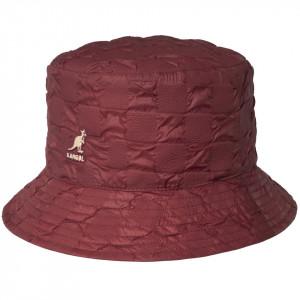 Palarie Kangol Pucker Check Bucket Red Velvet