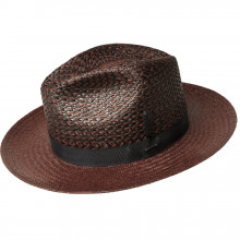 Palarie Bailey of Hollywood Stallworth Panama Fedora Deep Red