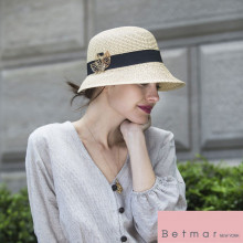 Palarie Betmar Franoise Braided Cloche Natural 6