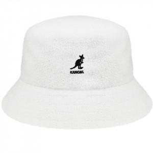 Palarie Kangol Bermuda Bucket Alb