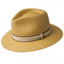 Palarie Bailey of Hollywood Brooks Panama Fedora Honey