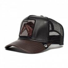 Sapca Goorin Brothers Trucker Leather Your Majesty