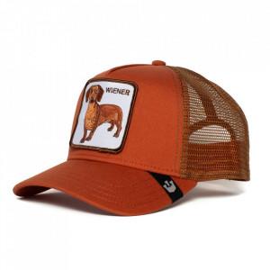 Sapca Goorin Brothers Trucker Wiener Dawg Orange Rust