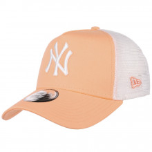 Sapca New Era Trucker New York Yankees Peach