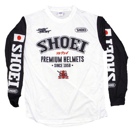 SHOEI - TRICOU MX BLACK/WHITE