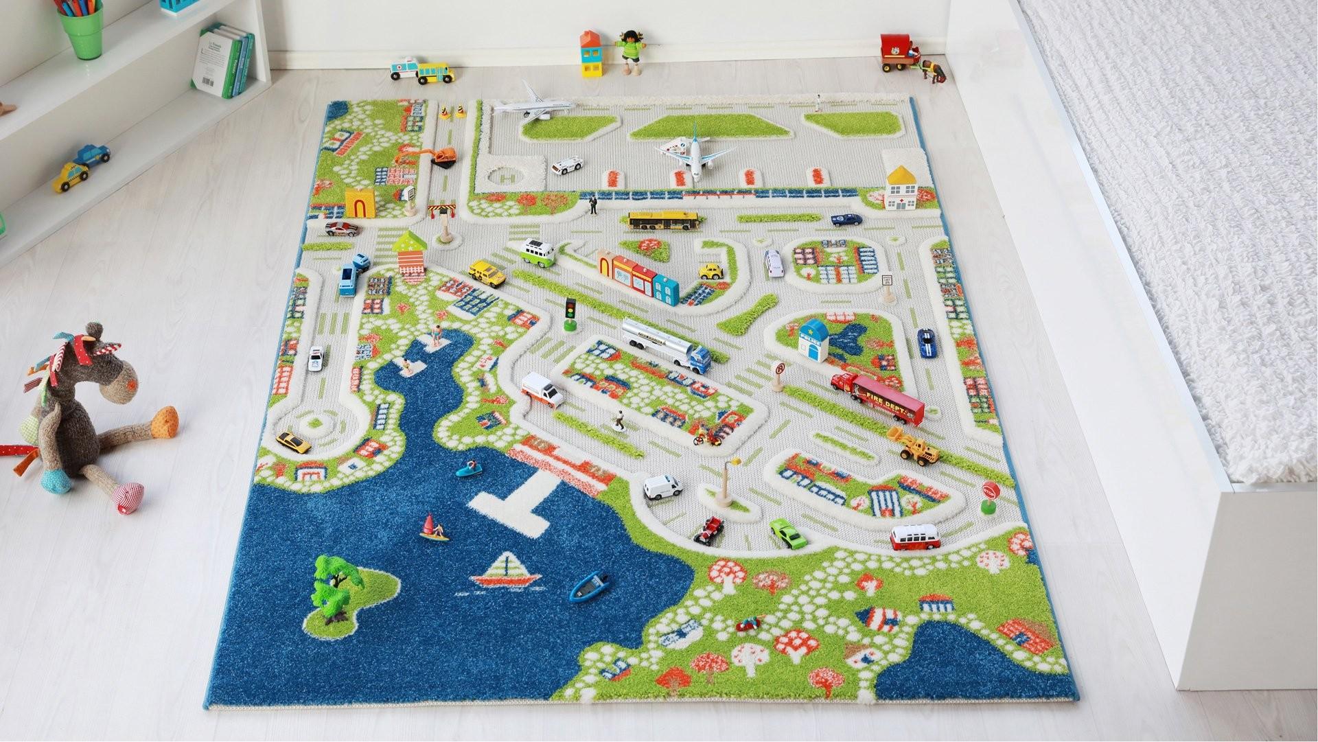 Covoare de Joaca 3D Orasul la Mare