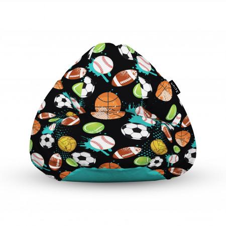 Fotoliu Units Puf (Bean Bags) tip para, impermeabil, cu maner, 100x80x70 cm, mingi