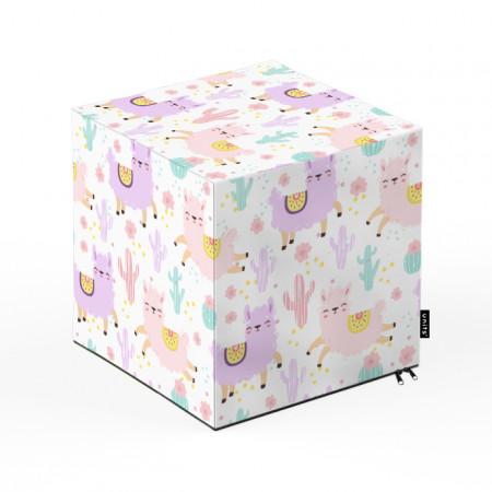 Taburet Units, cub, Alpaca, 30 x 30 x 30 cm