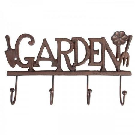 """Cuier pentru unelte gradina cu 4 agatatoare din fonta """"Garden"""""""