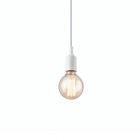 [lux.pro]® Lustra design decorativ, Ono Model 2, E27, 1 x 60 W, metal, alb