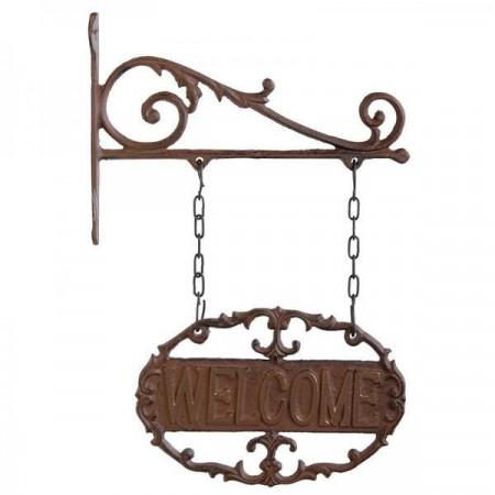 """Placuta metalica pentru exterior """"Welcome"""""""