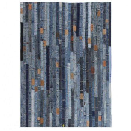 Covor petice jeans 160x230 cm Albastru denim