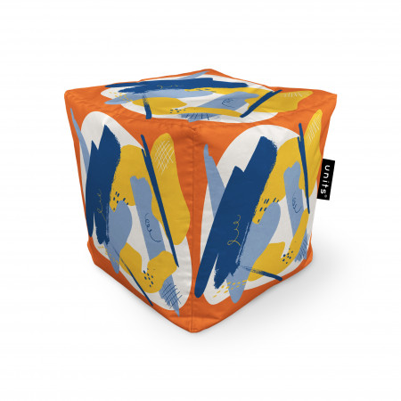 Fotoliu Units Puf (Bean Bags) tip cub, impermeabil, abstract retro
