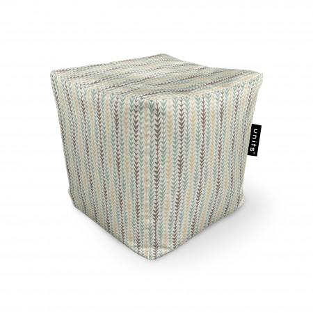 Fotoliu Units Puf (Bean Bags) tip cub, impermeabil, motiv frunze verticale