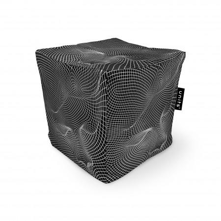 Fotoliu Units Puf (Bean Bags) tip cub, impermeabil, topografic negru