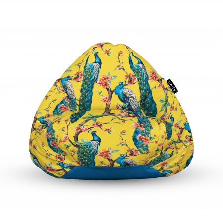 Fotoliu Units Puf (Bean Bags) tip para, impermeabil, cu maner, 100x80x70 cm, pauni