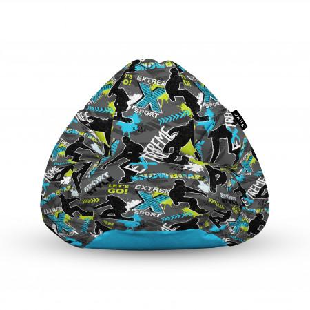Fotoliu Units Puf (Bean Bags) tip para, impermeabil, cu maner, 100x80x70 cm, X-sport