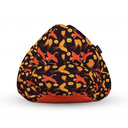 Fotoliu Units Puf (Bean Bags) tip para, impermeabil, cu maner, 100x80x70 cm, gaste si fluturi
