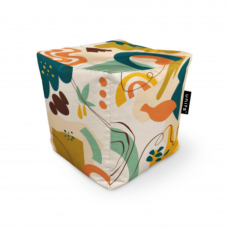 Fotoliu Units Puf (Bean Bags) tip cub, impermeabil, abstract jungle
