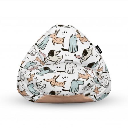 Fotoliu Units Puf (Bean Bags) tip para, impermeabil, cu maner, 100x80x70 cm, caini cuminti