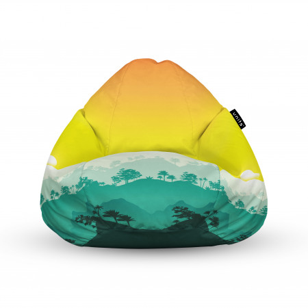 Fotoliu Units Puf (Bean Bags) tip para, impermeabil, cu maner, tropical